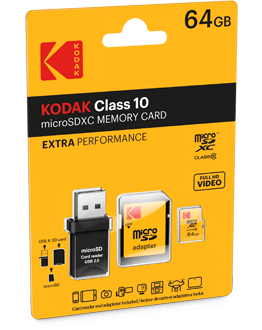 microSD Class10 Extra with reader 2.0 Pack