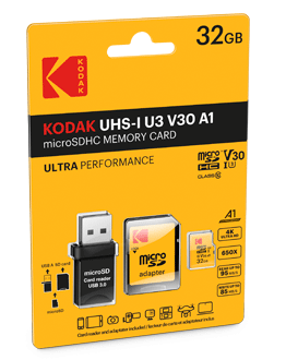 micro SD UHS-1 U3 V30 A1 with reader USB 3.0 Pack