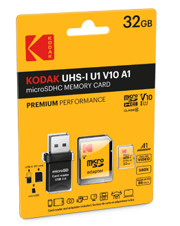 microSD UHS-1 U1 V10 with reader USB 2.0 Pack
